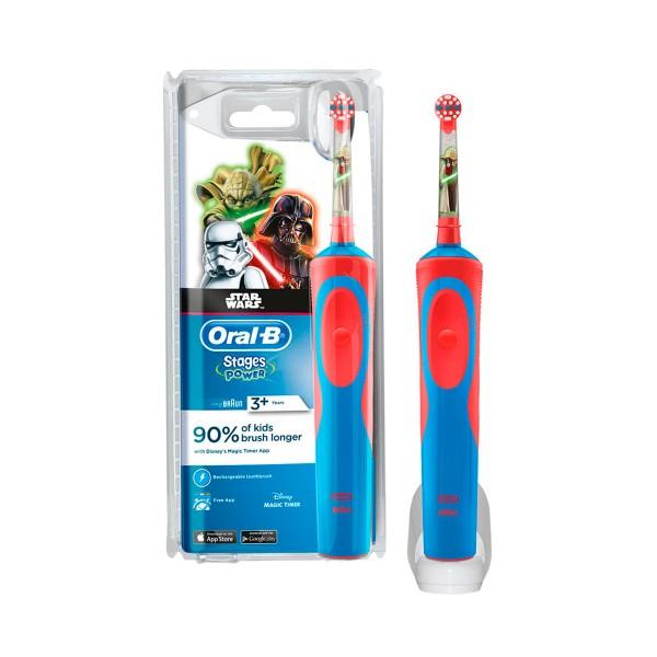 Braun oral-b stages power kids star wars cepillo de dientes eléctrico infantil con tecnología 2d temporizador musical y disney magictimer