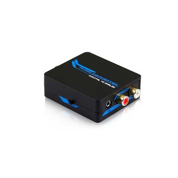 Dcu convertidor digital toslink coaxial a salida analógica rca y jack 3.5mm