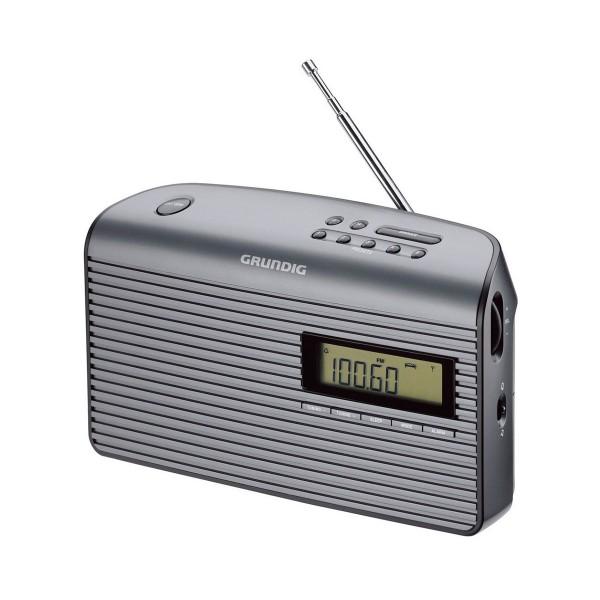Grundig music 61 gris radio de sobremesa fm con 10 presintonías y alarma