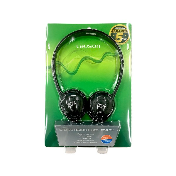 Lauson ph-92 tv negro auriculares estéreo tv