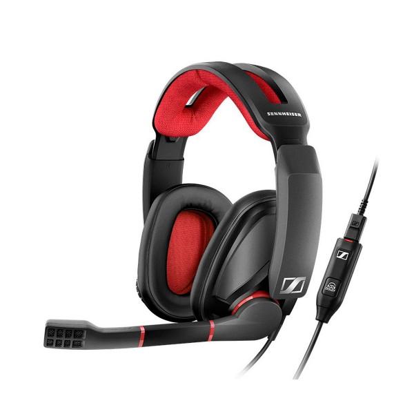 Sennheiser gsp 350 negro/rojo auriculares para gaming 7.1 con micrófono