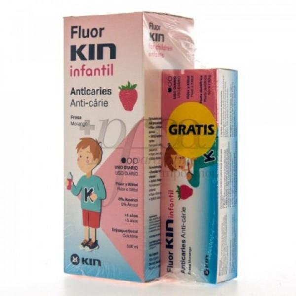 FLUOR KIN COLUTORIO INFANTIL 500ML REGALO PROMO