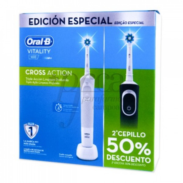 ORAL-B VITALITY CROSS ACTION BLANCO+NEGRO PROMO