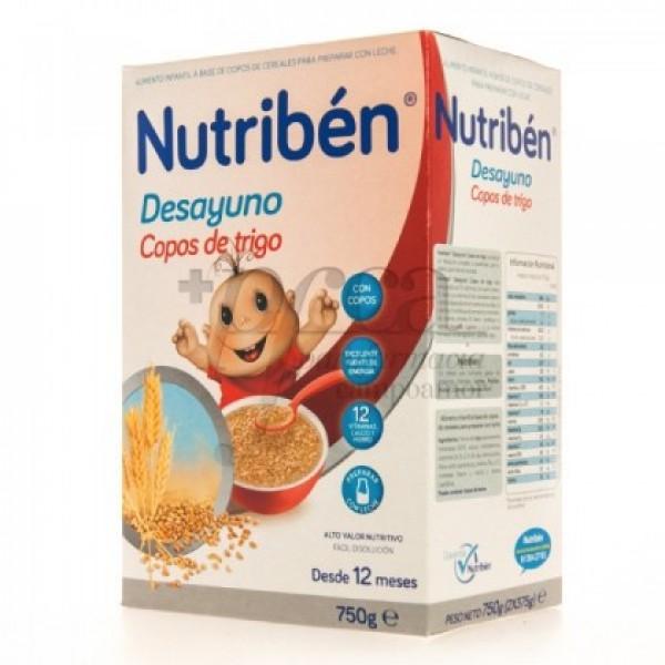 NUTRIBEN DESAYUNO COPOS DE TRIGO 12M+ 750G