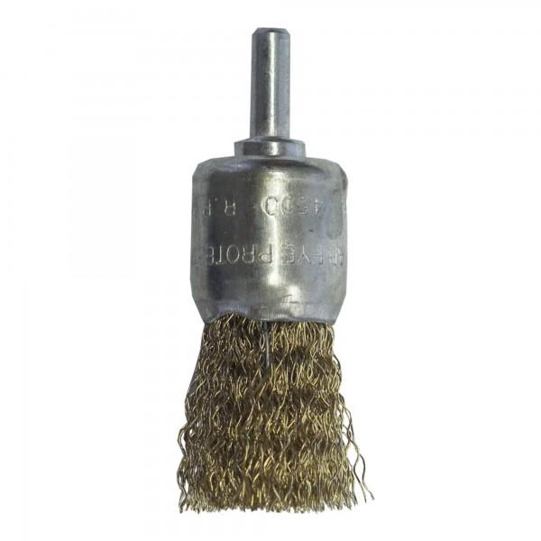Cepillo brocha espiga 6 mm.  26 mm.