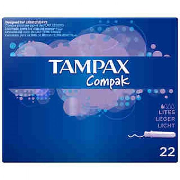 Tampax Compak Lites 22 unidades