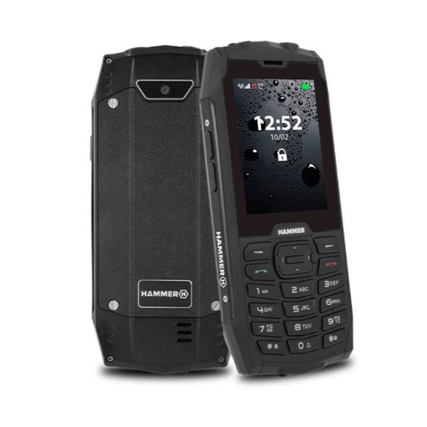 Myphone hammer 4 negro móvil resistente ip68 dual sim 2.8'' tft cámara bluetooth radio fm