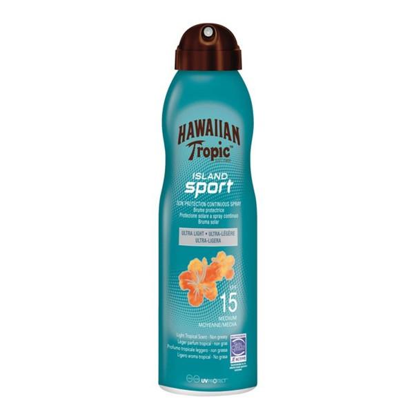 Hawaiian tropic island sport ultra light spf15 spray 220ml vaporizador