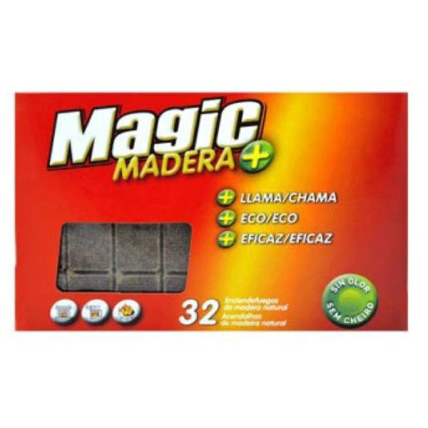 Magic enciendefuegos de madera natural 32 uds