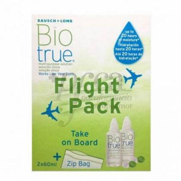 BIOTRUE SOLUCION UNICA FLIGHT PACK 2 X 60 ML PROMO