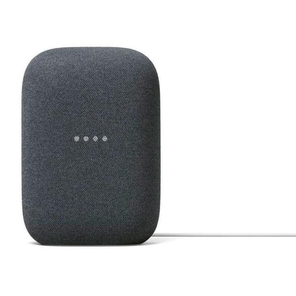 Google nest audio tela gris carbón altavoz inteligente con asistente google assistant