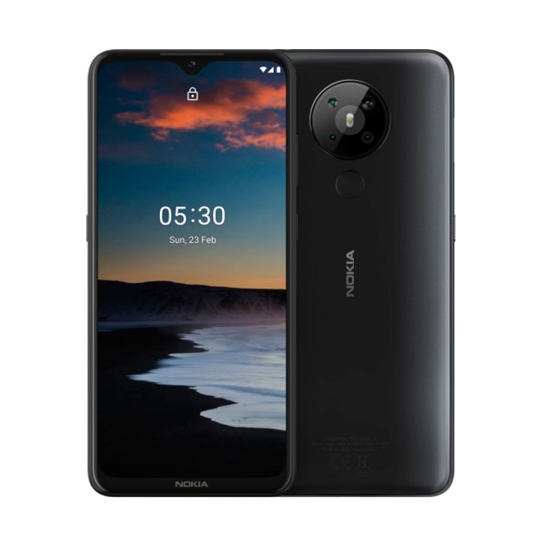 Nokia 5.3 negro móvil 4g dual sim 6.55'' hd+ octacore 64gb 4gb ram quadcam 13mp selfies 8mp