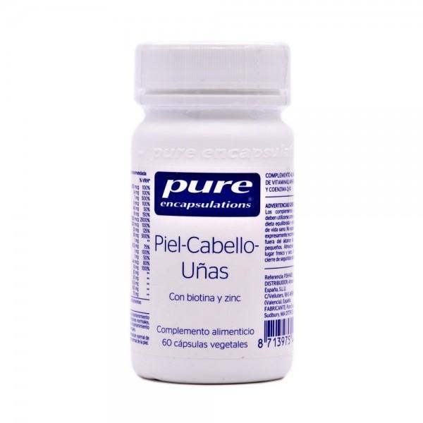 PURE ENCAPSULATIONS PIEL-CABELLO-UÑAS 60 CAPS