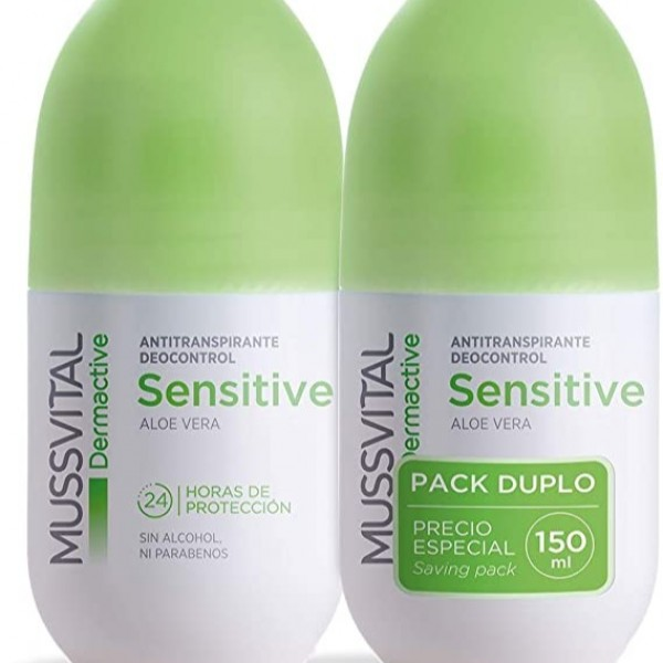 MUSSVITAL SENSITIVE DEO ALOE VERA 2X 75ML PROMO