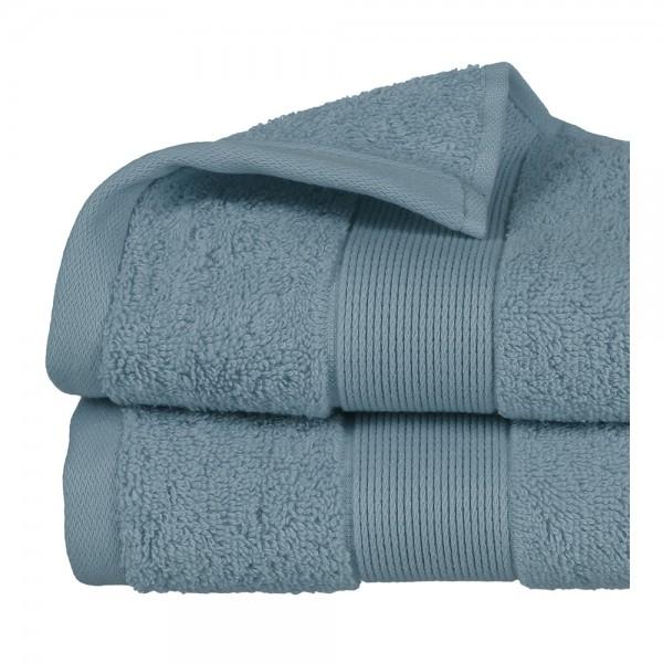 Toalla de rizo 450gr color azul abeto 50x90cm